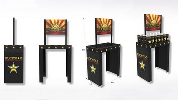 Display carton pour PLV - Lux Emballages