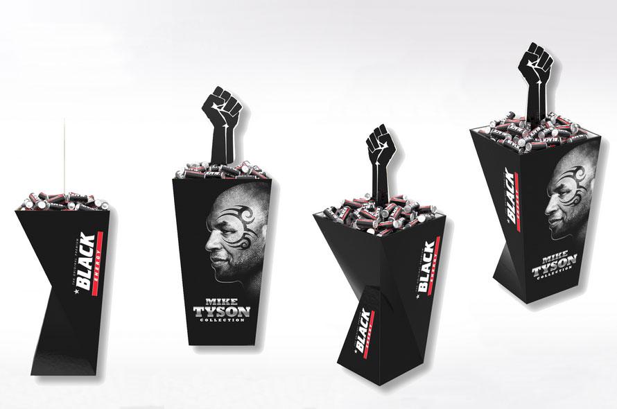 Présentoir carton personnalisé, support canettes  - Lux Emballages, expert en PLV carton