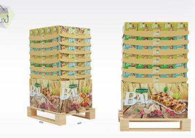 Présentoir et packaging carton produits BA!