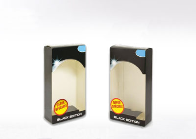 Packaging carton fenêtre plastique