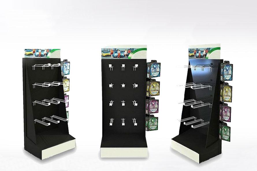 Présentoir carton et métal - Lux Emballages, expert en PLV carton