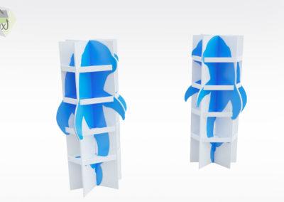 Display 3D en carton