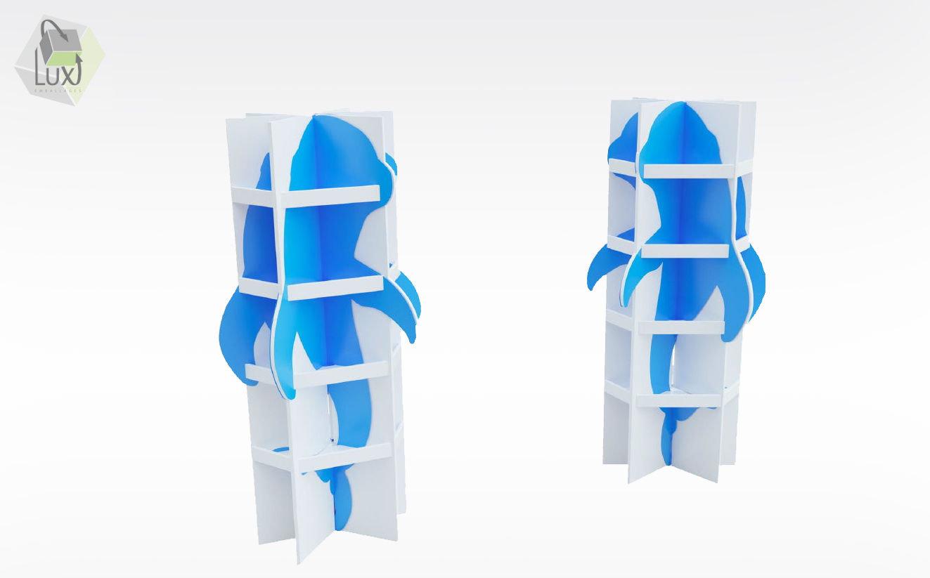 Display carton en 3 dimensions - Lux Emballages, expert en PLV carton