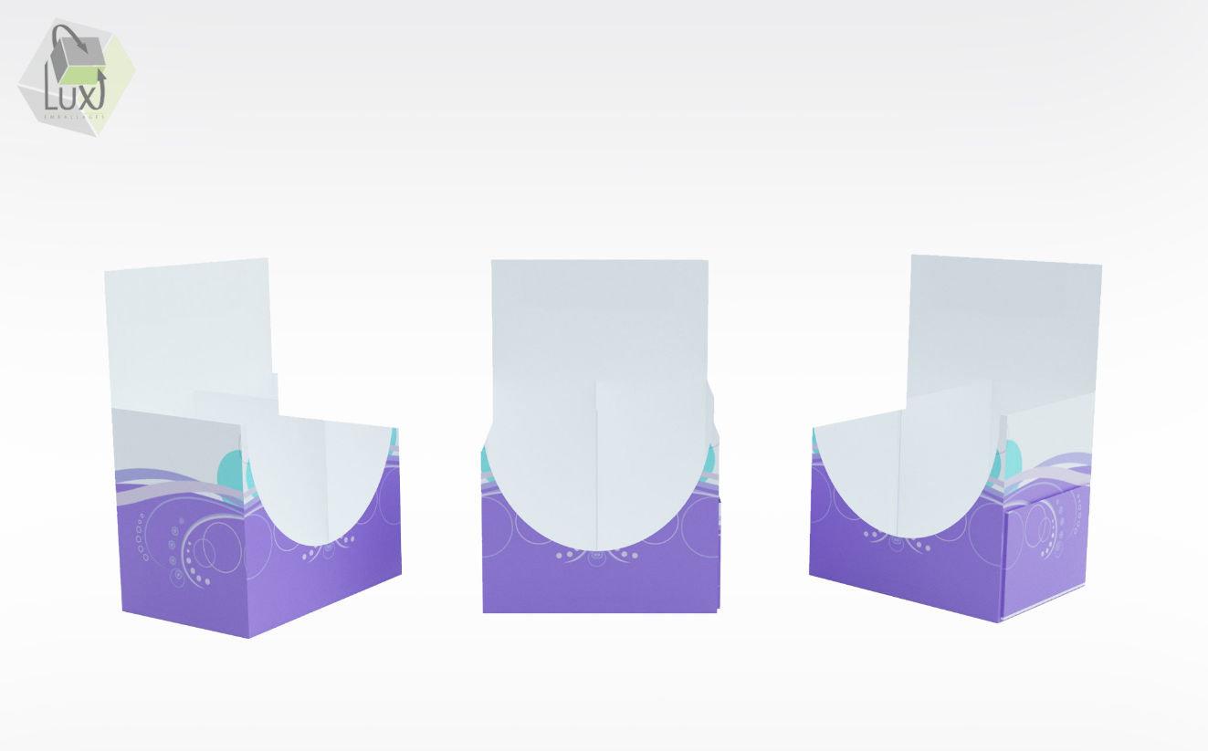 Petit présentoir de comptoirs - Lux Emballages, expert en PLV carton