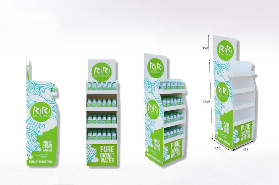 Présentoir en carton sur mesure - Lux Emballages, expert en PLV carton