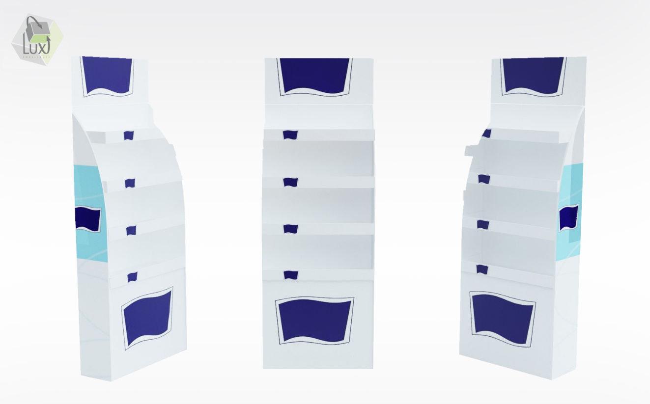 Présentoir carton pour points de vente - Lux Emballages, expert en PLV carton