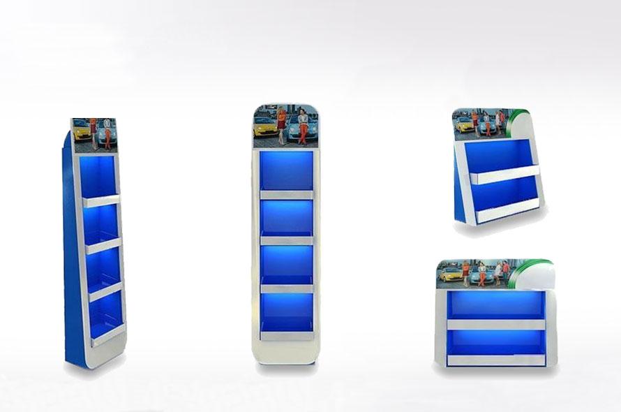 Présentoir de comptoir en carton - Lux Emballages, expert en PLV carton