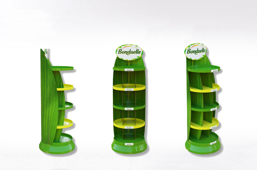 PLV carton incliné - Lux Emballages, expert en PLV carton