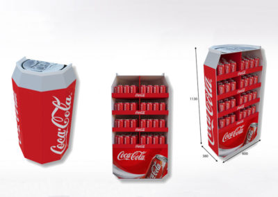 Présentoir PLV carton Coca Cola - Lux Emballages