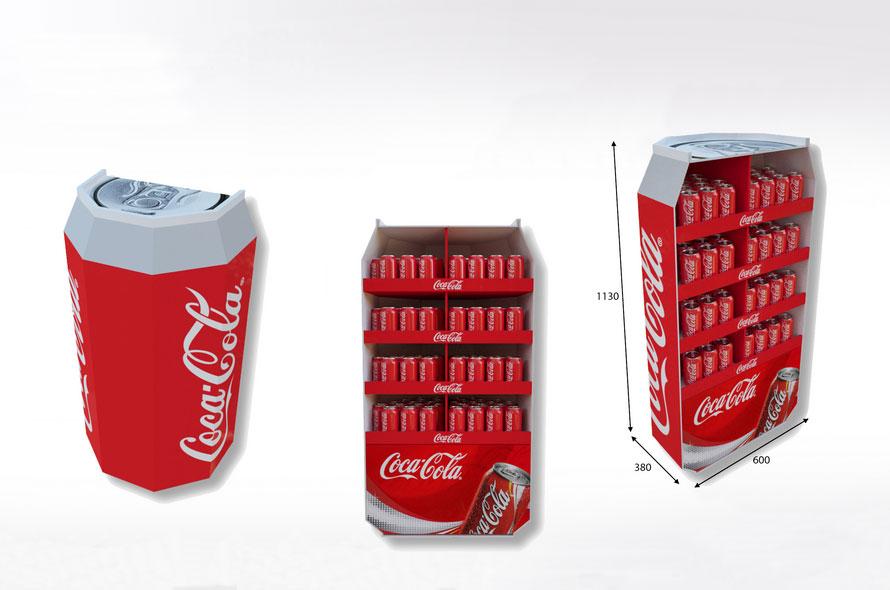 Display carton Coca-Cola - Lux Emballages, expert en PLV carton