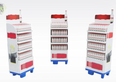 Présentoir carton bouteilles alcool