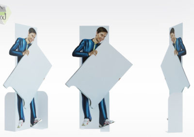 Silhouette publicitaire en carton