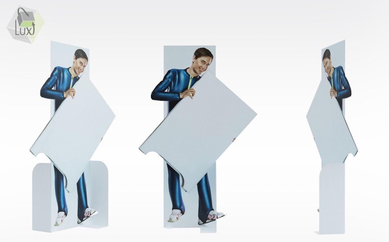 Silhouette publicitaire en carton - Lux Emballages, expert en PLV carton