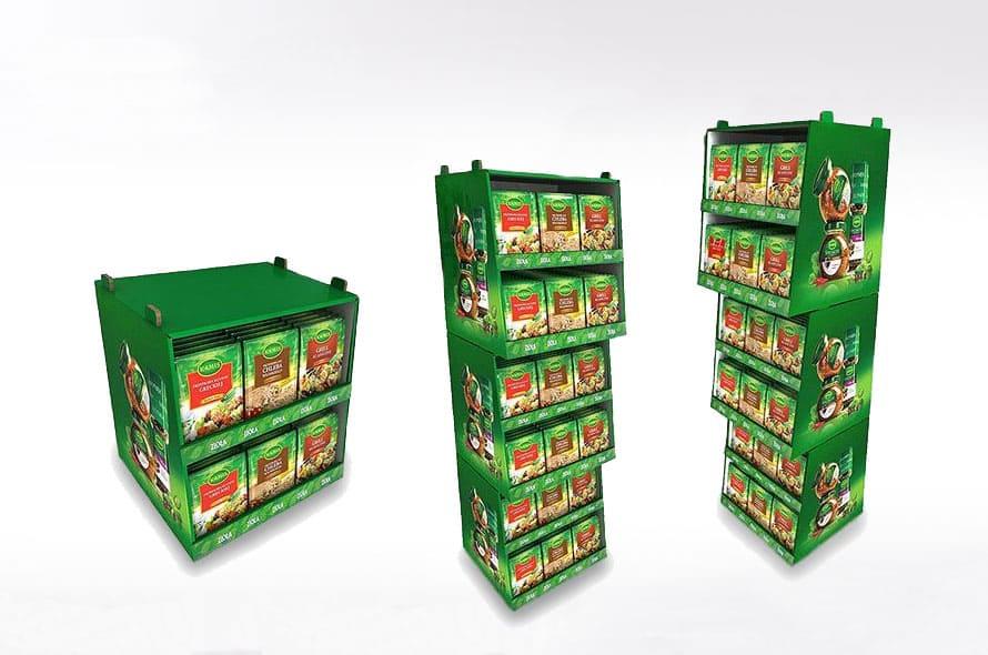 Display en carton  - Lux Emballages, expert en PLV carton