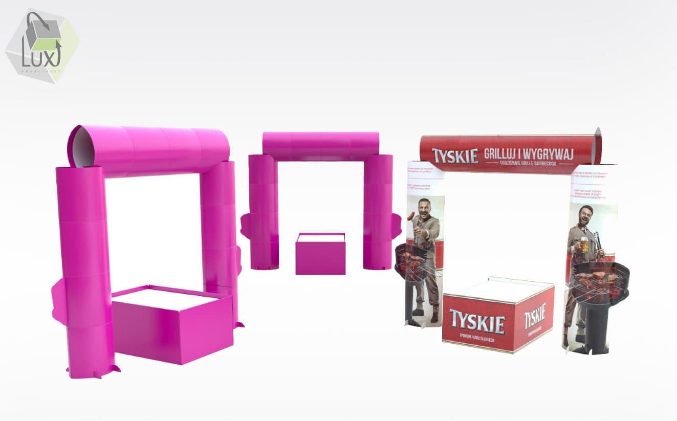 Displays carton personnalisés - Lux Emballages, expert en PLV carton