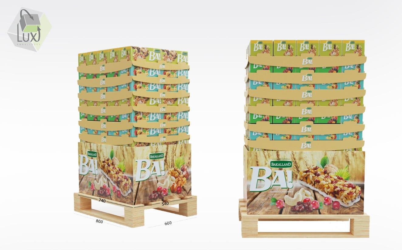 Présentoir et packaging carton - Lux Emballages, expert en PLV carton