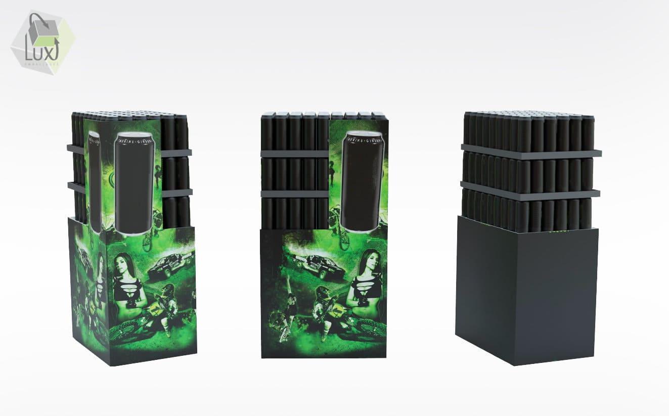Haut présentoir en carton - Lux Emballages, expert en PLV carton