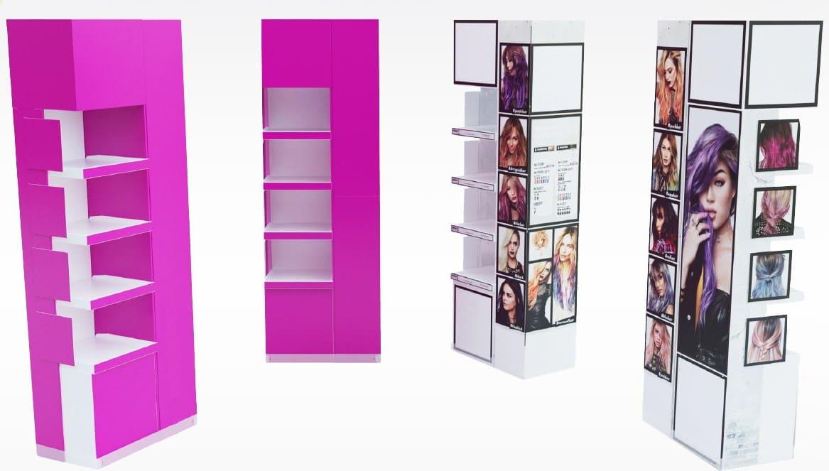 Displays et PLV carton - Lux Emballages, expert en PLV carton