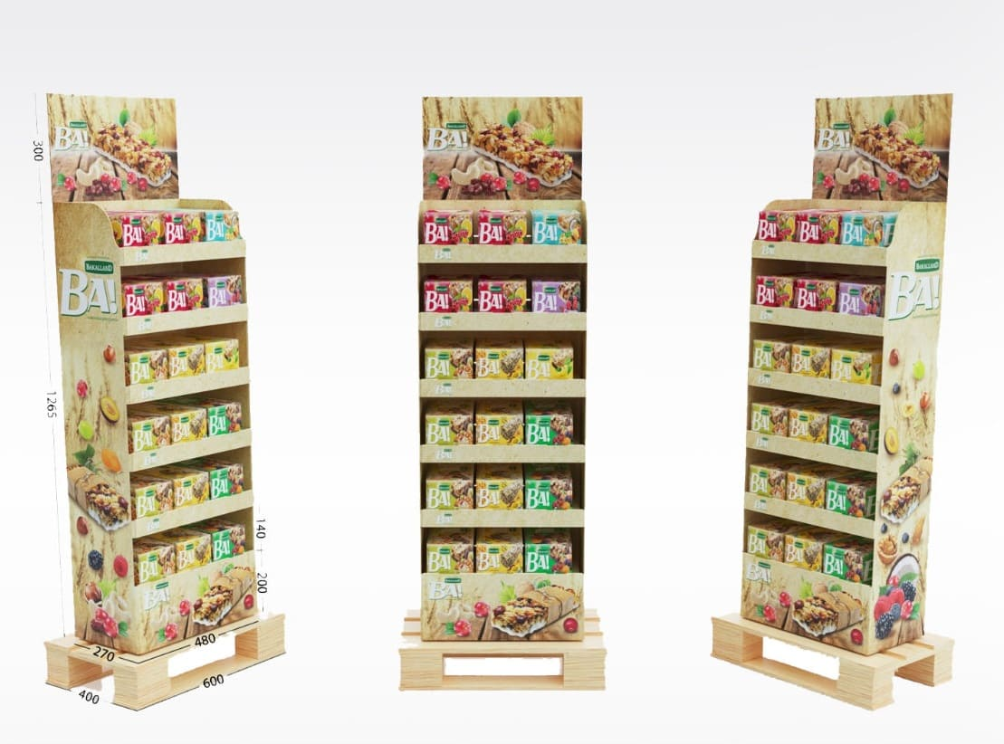 Support display en carton - Lux Emballages, expert en PLV carton