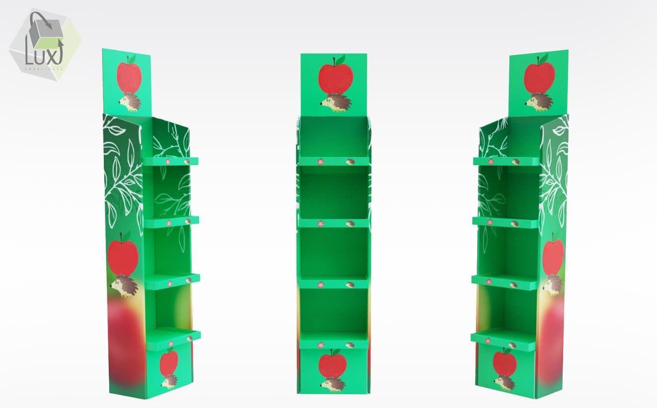 Présentoir de PLV carton - Lux Emballages, expert en PLV carton