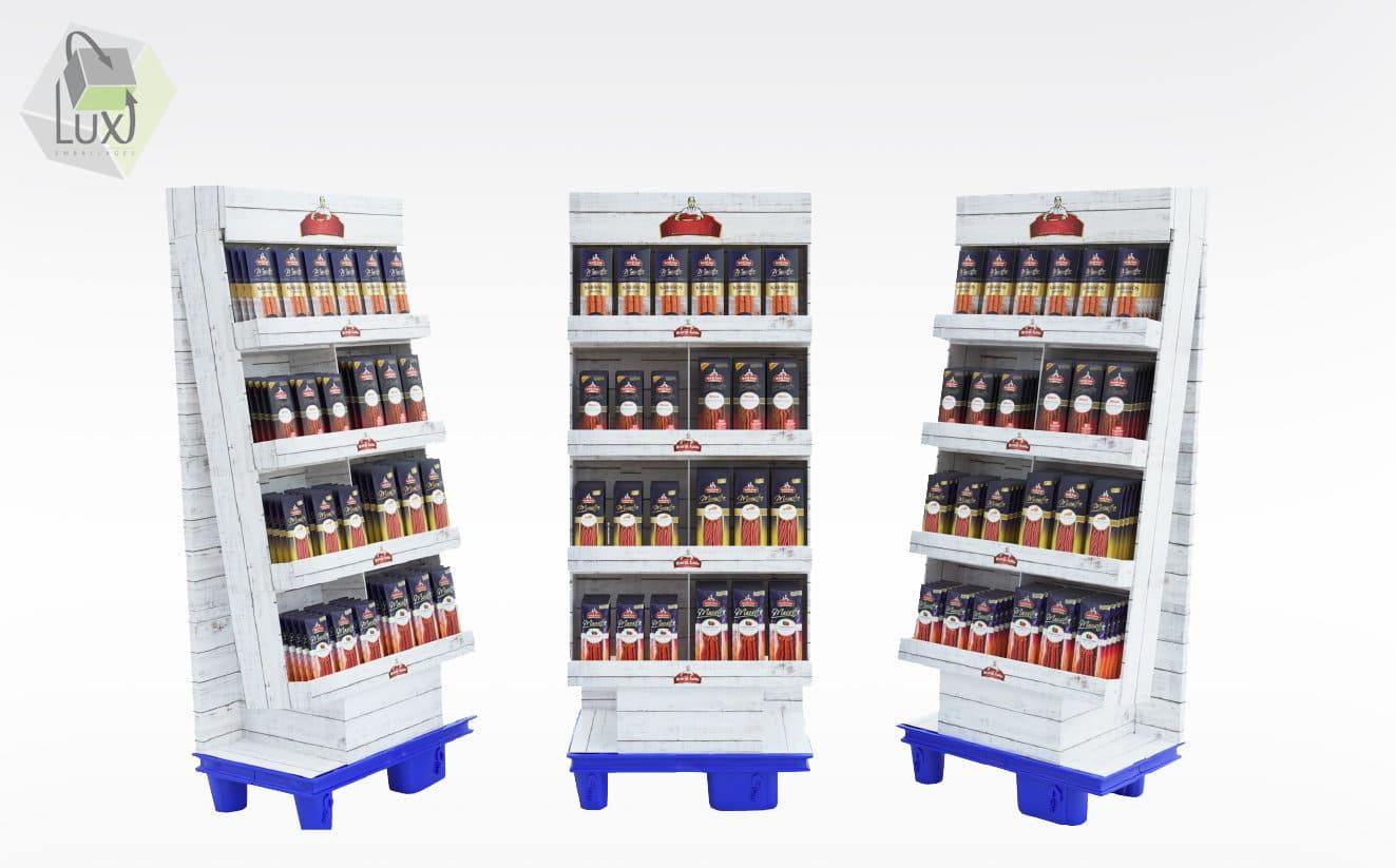 Display carton pour produits alimentaires - Lux Emballages, expert en PLV carton